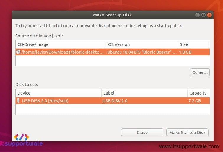 Ubuntu-Desktop-Startup-Disk-Creator