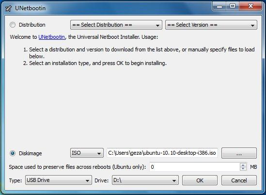Ubuntu-Desktop-UNetbootin-DiskImage