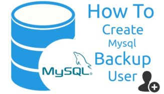 Creating a backup user with read-only permission for MySQL DB