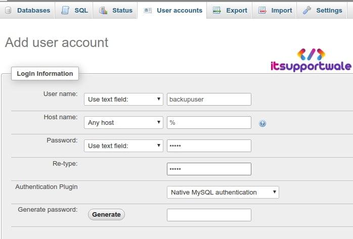 phpmyadmin-fill-user-details