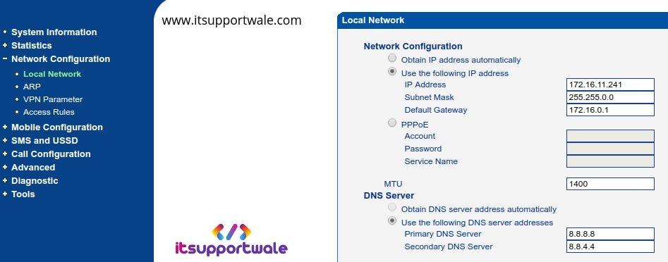 Dinstar-gsm-gateway-network-config