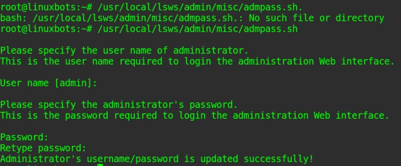 change-ols-admin-pass