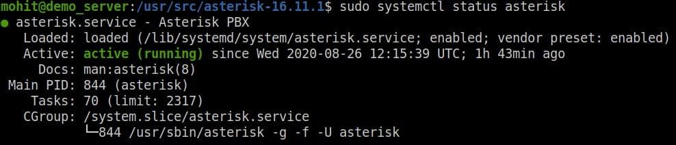 asterisk-16-service-status-check