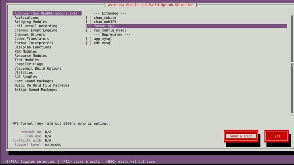 asterisk-installation-menuselect-screen