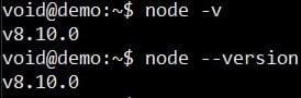 verify node installation on ubuntu linux
